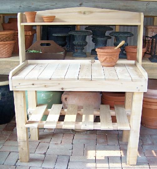 Homegardenllc Cedar Potting Bench